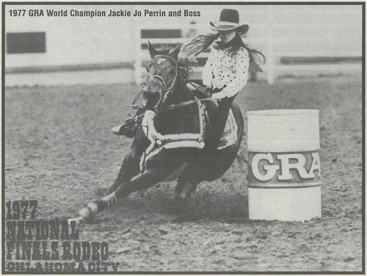 Jackie Jo Perrin running barrels 1997