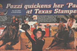 Brittany Pozzi running at Texas Stampede