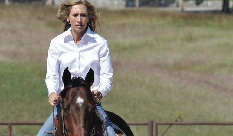 Charmayne James horseback