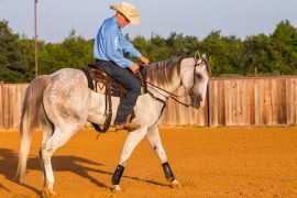 Ron Ralls demonstrating perfect circle horseback