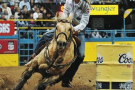 Sherry Cervi turning the barrel on StingRay