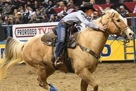 Hailey Kinsel running in Round 7 of the WNFR
