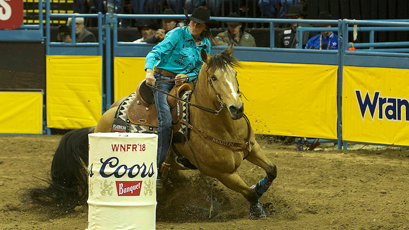 Lisa Lockhart Wins Round Two of the Wrangler NFR