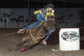 Kim Landry winning 1997 Old Fort Days Futurity on On The Money Luv