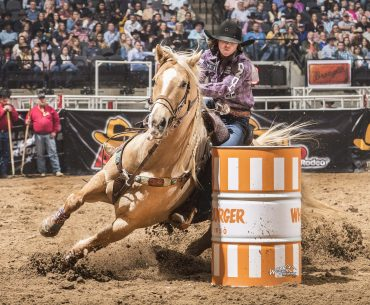 hailey kinsel and sister turning barrel