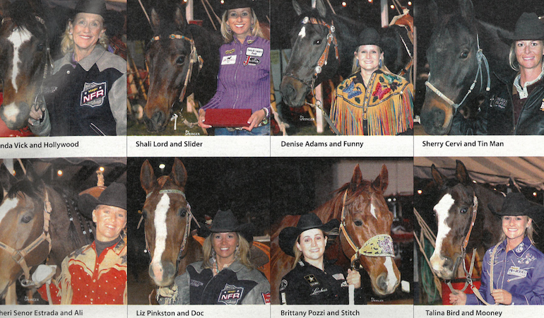 Top 15 barrel racers of 2005 with their horses