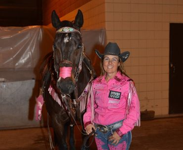 Michele McLeod with Apt To Be Special at the 2017 Fort Worth Rodeo