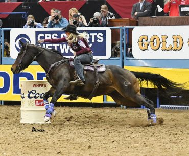 "Amberleigh Moore and ""Paige"" turning the second barrel"