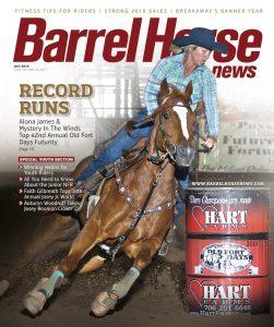 barrel horse news magazine july 2019 cover