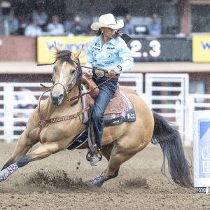 Lisa Lockhart Clinches Calgary Stampede Championship Riding Rosas Cantina CC