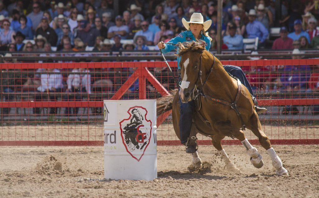 Shali Lord and Freckles Ta Fame at Cheyenne Frontier Days