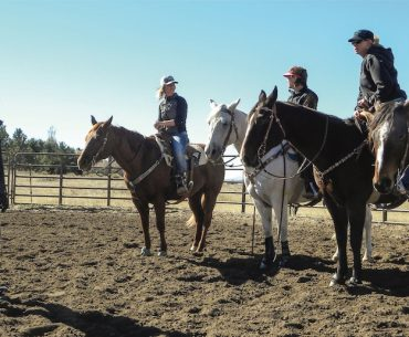 Charmayne James teaches barrel racers the importance of staying strong at her barrel clinics
