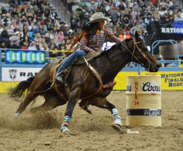 Kassidy Dennison and Eagle at 2014 NFR