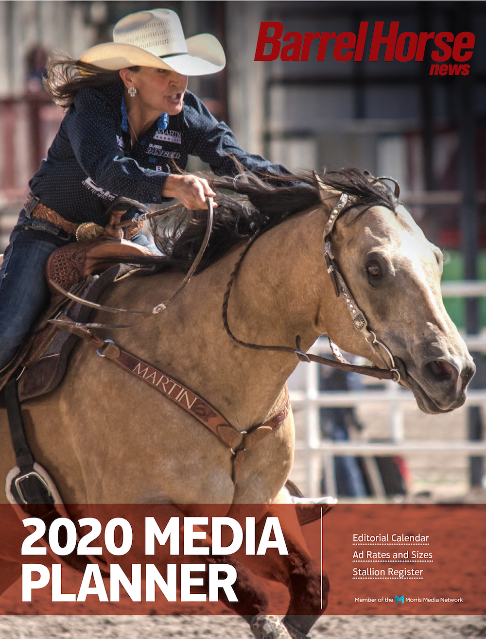 Barrel Horse News 2020 Print Media Kit cover page