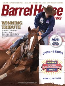 Barrel Horse News magazine January 2020 fold out cover