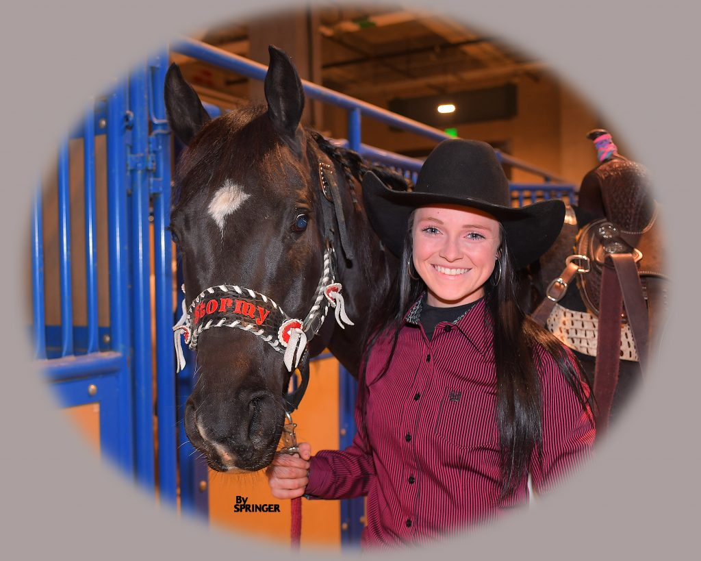 Ashley Castleberry at the Fort Worth Stock Show Rodeo