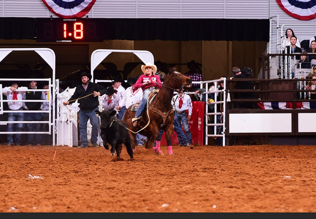 Cadee Williams winning Semifinal A breakaway of the Fort Worth Stock Show Rodeo