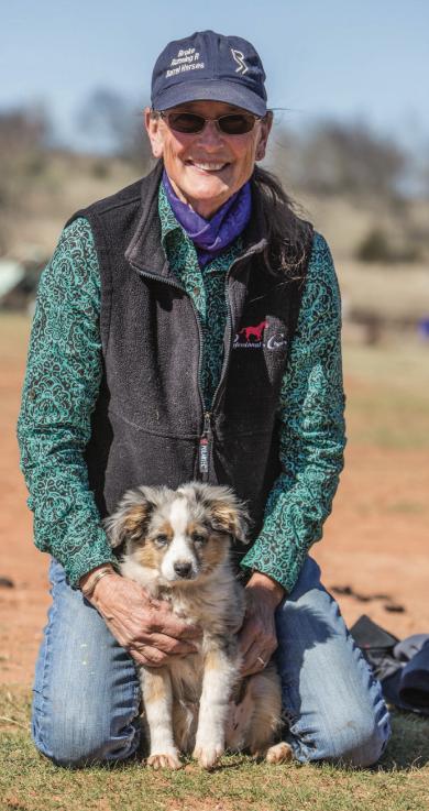 Dona Kay holding dog