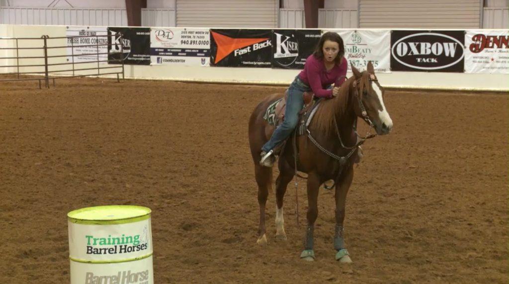jordon briggs demonstrating incorrect leaning on horse