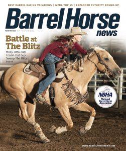 Barrel Horse News November 2020 cover