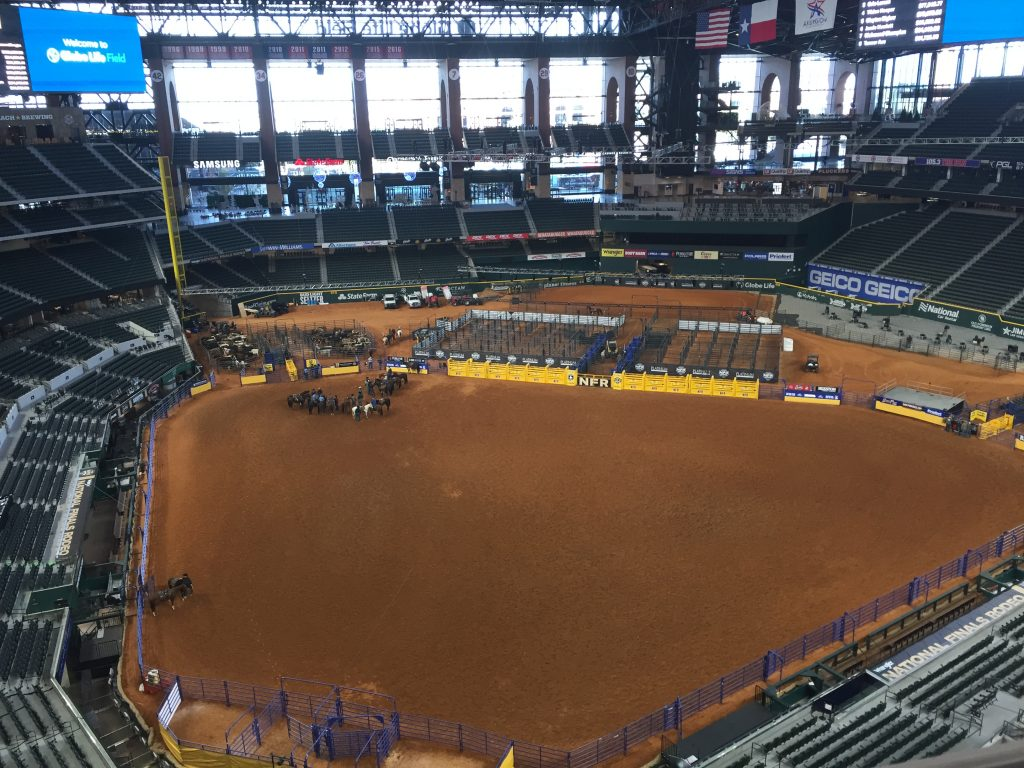 Globe Life Field with NFR arena