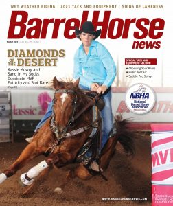 Barrel Horse News magazine March 2021 cover
