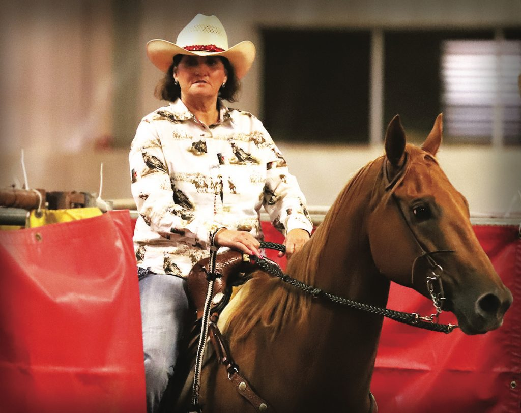 Finding the right beginner barrel horse.