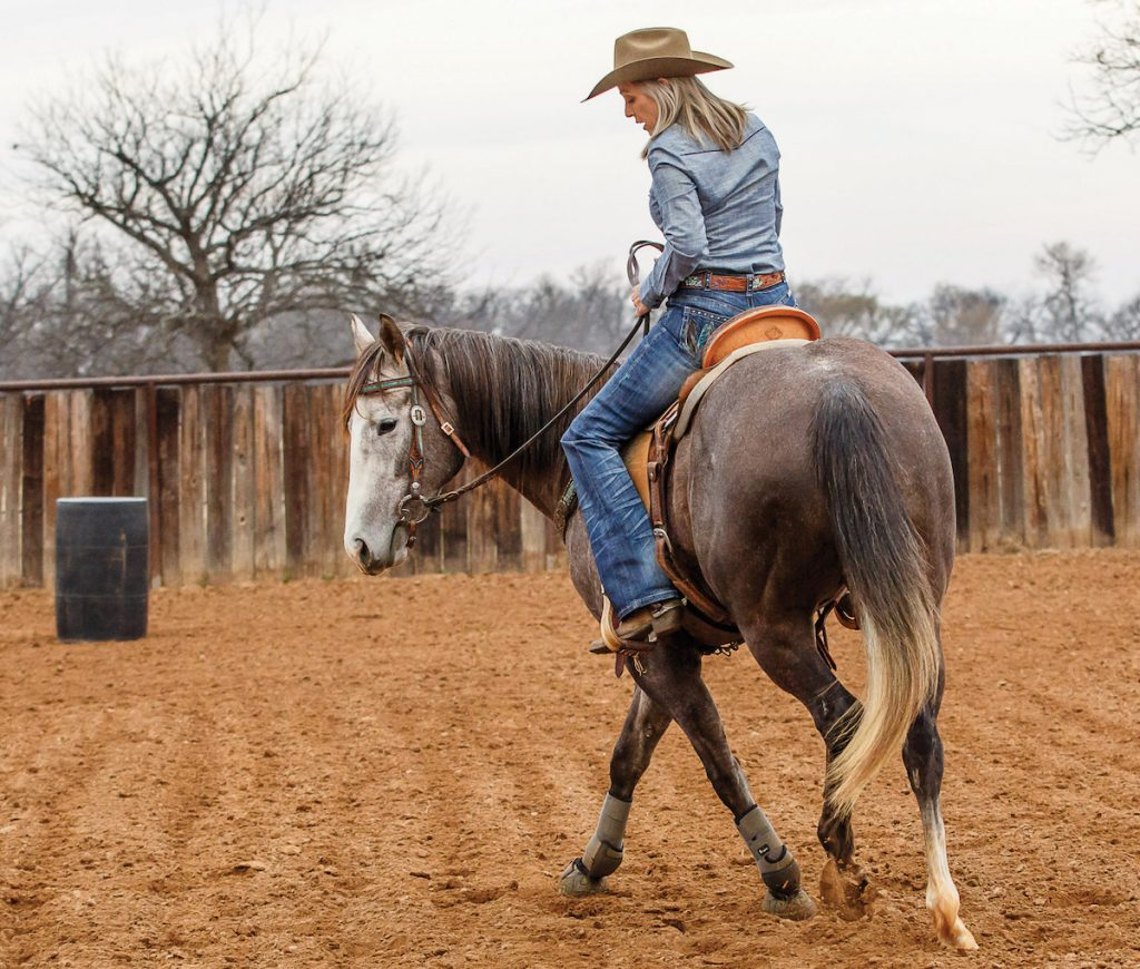 Maintain your horse's frame by starting with forward motion in this drill.