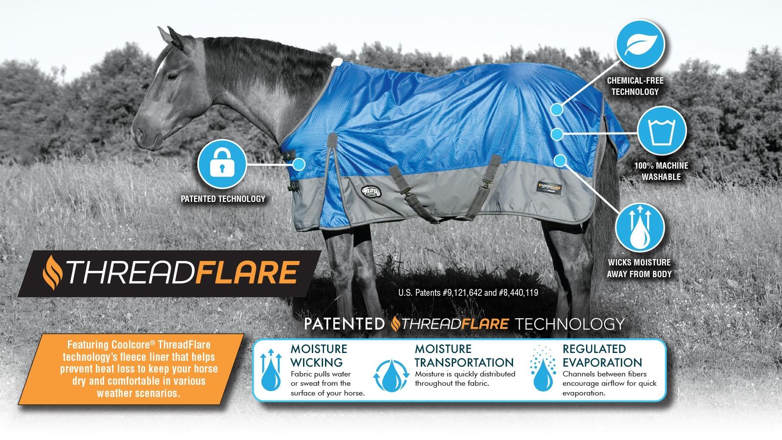 horse wearing threadfare turnout blanket
